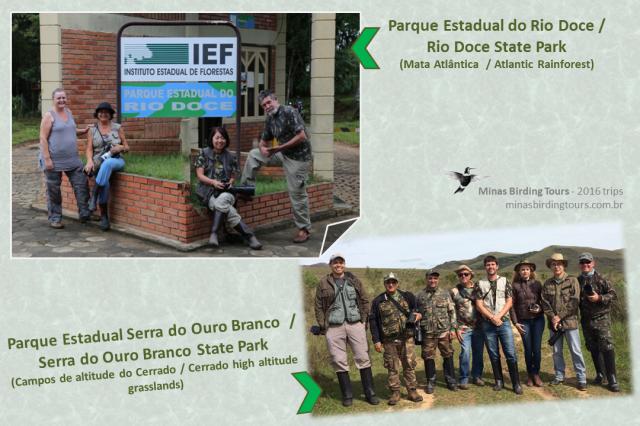 Viagens a Parques Estaduais: Rio Doce, em abril e Serra do Ouro Branco, em novembro
